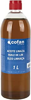 Aceite Linaza Cofan | Envase 1 L | Ideal para Maderas Exteriores-Interiores
