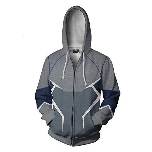 Mens Sweatshirt Long Sleeve Sweatshirt Avengers Hoodie Superhero 3D Digital Print Hoodie Cosplay Quicksilver M