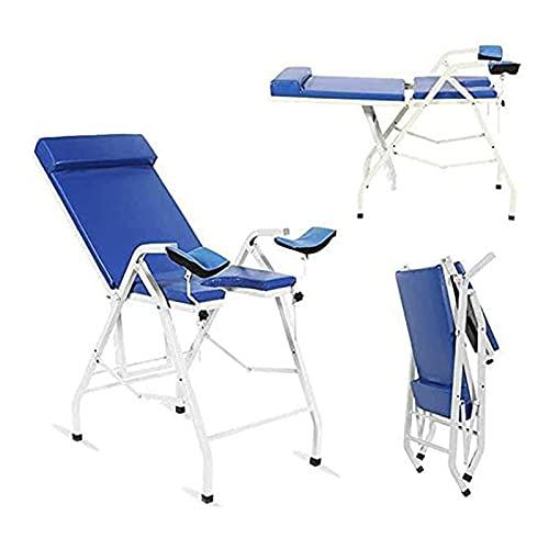 QJHP Cama de Examen ginecológica portátil Plegable, Mesa de Examen médico Cama de Belleza Silla de Examen de Tratamiento de Altura Ajustable Salud ambulatoria Femenina