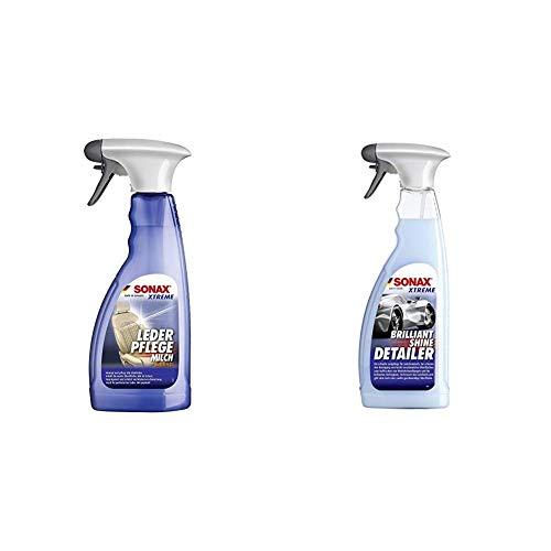SONAX Xtreme LederPflegeMilch (500 ml) Zur schonenden Reinigung und intensiven Pflege von glattem Echt- und Kunstleder | Art-Nr. 02542410 & 287400 Lackpflege