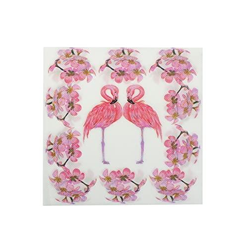 servilletas de papel 20 unids / lote Pink Flamingo Pájaro Papel Papel Servilleta Festivo & Fiesta Tissue Napbin Decoración del partido Decoración de la decoración 33 * 33cm servilletas de papel decora