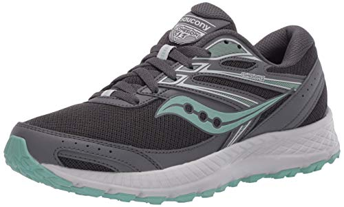 Saucony Women's VERSAFOAM Cohesion TR13 Walking Shoe, Dark Grey/Mint, 8.5 M US