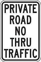 ティンサインの私道で通行禁止の場合、アルミ金属看板が錆びることはありません
