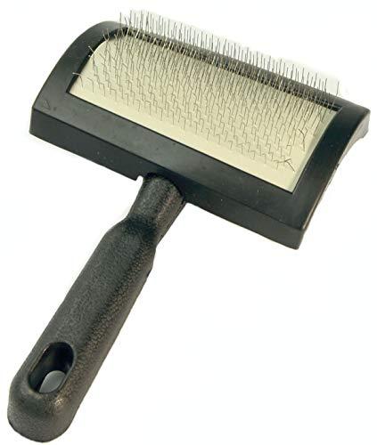 Zaloop Lammfell Bürste Fellbürste Pflegebürste für Felle (schwarz Größe M)