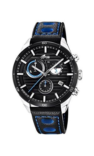 Lotus Watches Reloj Cronógrafo para Hombre de Cuarzo con Correa en Cuero 18531/2