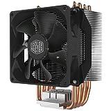 Cooler Master Hyper H412R Disipador CPU Sistema Refrigeración Bajo Perfil, Tecnología Contacto Directo, 4 Heat Pipes Cobre, Heatsink Aluminio Compacto con Ventilador PWM 92mm, Compatible Intel y AMD