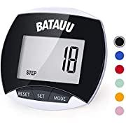 BATAUU Fitness Tracker Watch, Simply Operation Walking Running Pedometer with Calorie Burning and Steps Counting (Black)