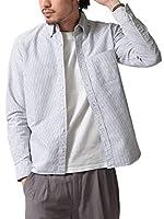[ チャオ ] ciao オックスフォード ボタンダウンシャツ 日本製 292003 2BLACKストライプ長袖 M