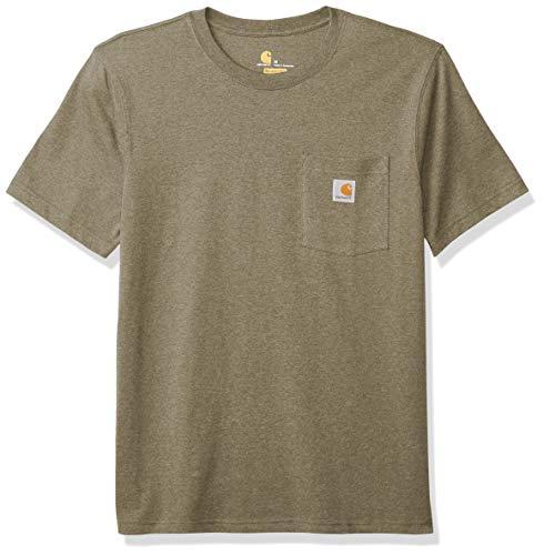 Carhartt . 103296.G39.S006 - Camiseta de Manga Corta para Hombre con Bolsillo para Ropa de Trabajo, Talla L
