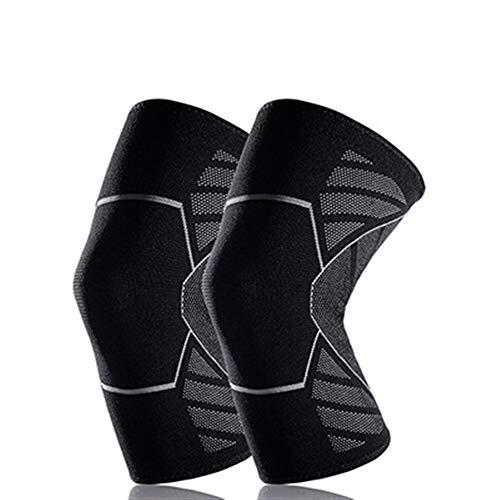 Kniebandage Atmungsaktive Basketball Fußball Sport Sicherheit Kniepolster Volleyball Knieschützer Ausbildung Elastische Kniebandage Knieschutz (1 STÜCKE) knee active plus (Color : GY, Size : XL)