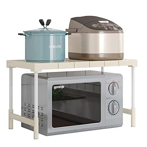 MCKEYEN Estante Inferior Retráctil para Fregadero, Rejilla para Horno Microondas, Organizador De Mostrador De Cocina, Acero Al Carbono, Capacidad De Peso De 88 Libras,S
