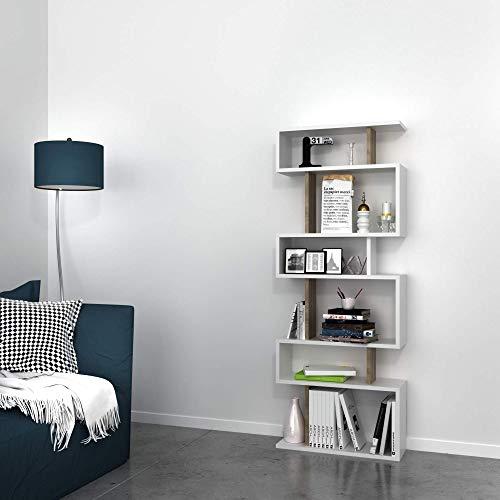 Bravo Home Tablero Bookcase (Walnut and white)