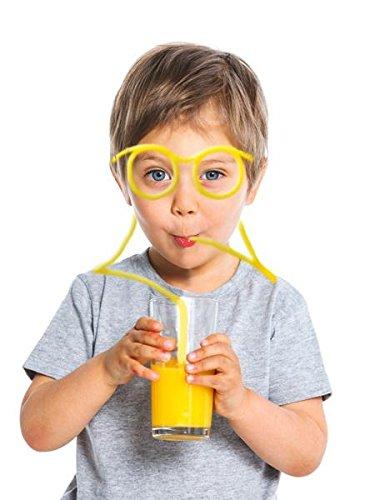 BUSDUGA Trinkbrille / Strohhlambrille für jung & alt - Scherzartikel