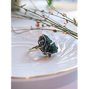 Green Grape Agate Ring, Botryoidal Chalcedony