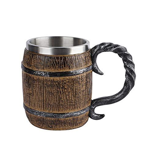 Taza de cerveza de acero inoxidable, taza personalizada, oficina, resina artesanal, gran vaso de agua (tipo 2)