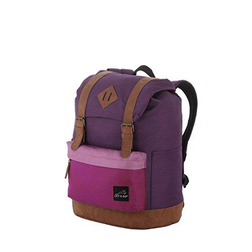 Let's Go Jugend/Kinderrucksack für Mädchen und Jungen, Retro Style, robuster Daypack mit Laptopfach bis 13 Zoll