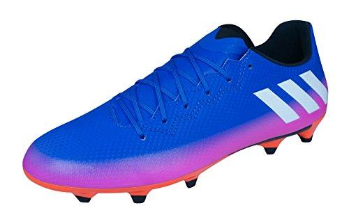adidas Herren Messi 16.3 FG BA9021 Fußballschuhe, Blue Ftwwht Sorang, 42 EU