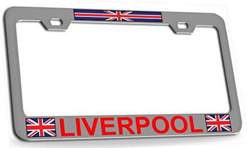 Custom Brother - LIVERPOOL ENGLAND British Steel Metal License Plate Frame cr