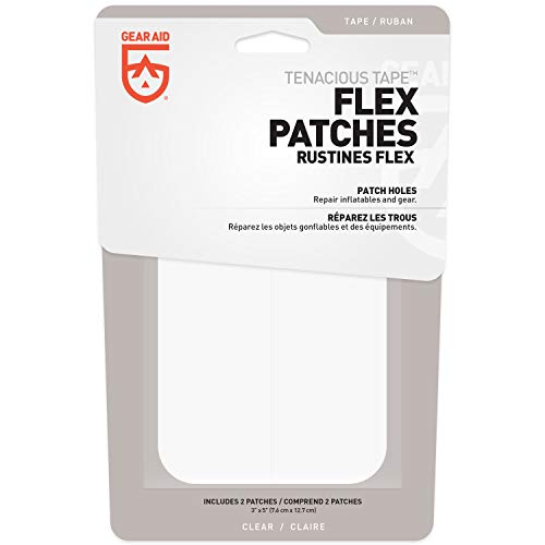 Gear Aid Unisex– Erwachsene Tenacious Tape Flex Patches, klar, One Size