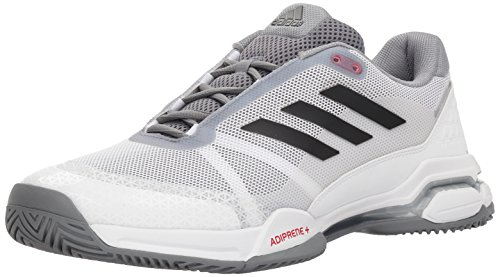 adidas Men's Barricade Club Tennis Shoe, Black/Matte Silver/White, 4.5 M US
