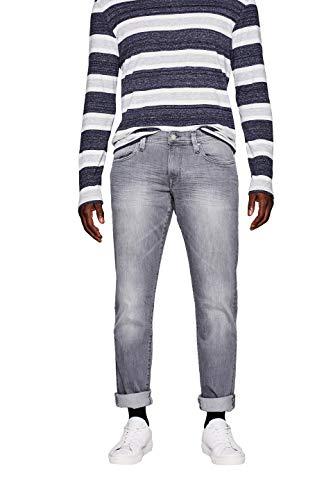 edc by ESPRIT Herren 997CC2B807 Slim Jeans, Grau (Grey Light Wash 923), W32/L34