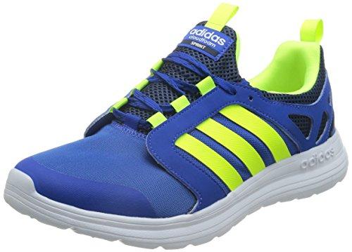 adidas Cloudfoam Sprint, Zapatillas de Deporte Exterior para Hombre, Azul/Amarillo (Azul/Amasol/Maruni), 41 1/3 EU