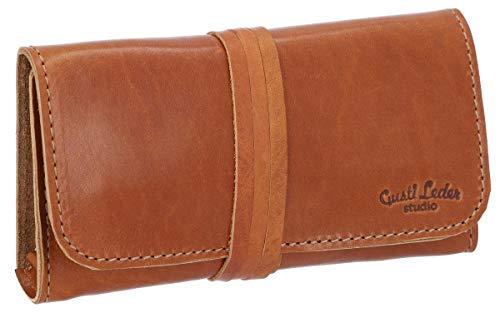Gusti Cuero Studio WREN Bolso de Cuero Bolsa para el Tabaco de Liar Piel de Vaca Vintage Retro 2T10-22-5