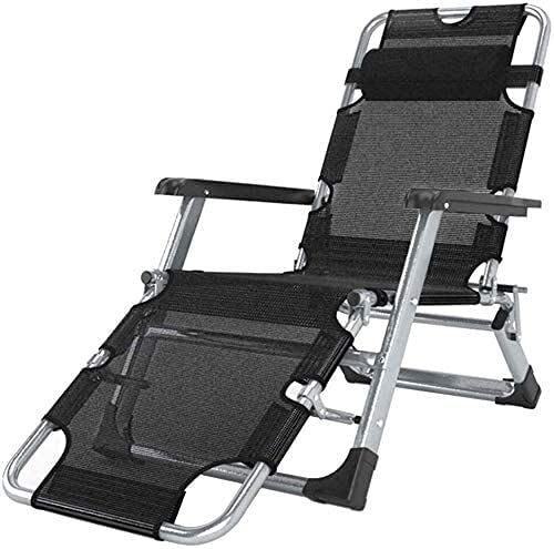 FXBFAG Tumbonas reclinables de gravedad cero para patio, silla reclinable de jardín al aire libre, plegable, mecedora portátil, soporta 200 kg, color negro