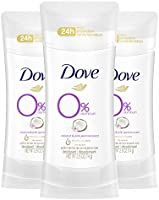 Dove Aluminum Free Deodorant 24-hour Odor Protection Coconut and Pink Jasmine Deodorant for Women 2.6 oz, 3 Count