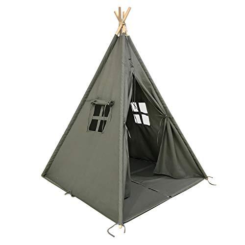 Sunny Alba Tipi Tent Grijs - FSC houten stokken - Incl. vloerkussen