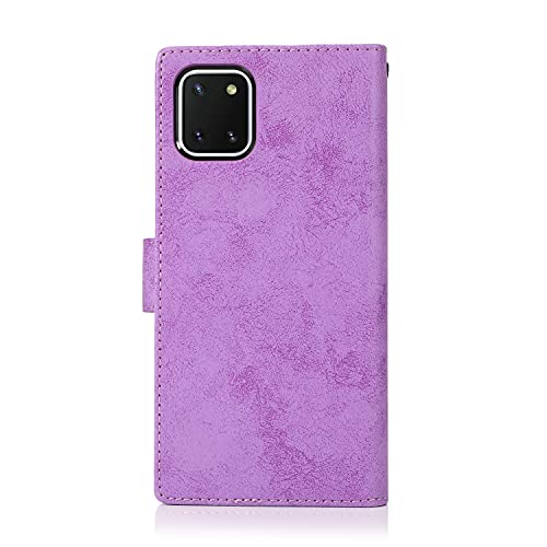 Teléfono Flip Funda Shell Para Samsung Galaxy A81 Funda de teléfono móvil, 2 en 1 caja de teléfono móvil magnético PU de cuero de la PU Caja del teléfono móvil, adecuado para la caja del teléfono Sams