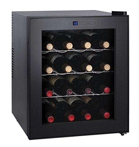Igenix 16 Bottle Built-In Wine Cooler, Black