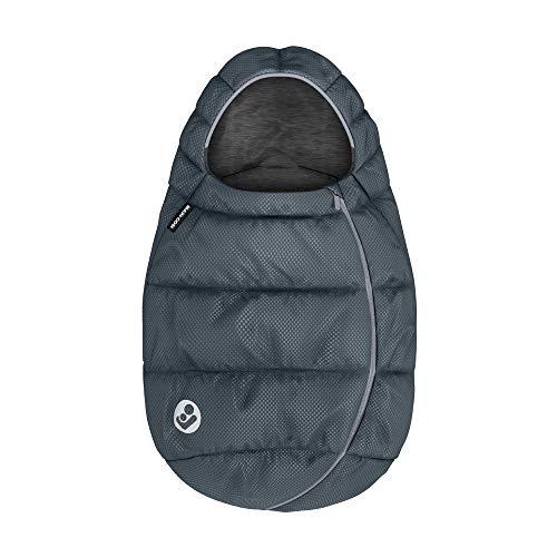 Maxi-Cosi Fußsack, kuschelig warmer Universal Winterfußsack, passend für alle Maxi-Cosi Babyschalen und Kinderwagen und vielen mehr, nutzbar ab der Geburt bis ca. 2 Jahre, Essential Graphite