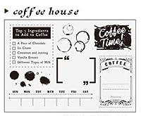 コーヒーハウスDIYスクラップブッキングフォトアルバム用透明クリアシリコンスタンプシール装飾クリアスタンプA1325