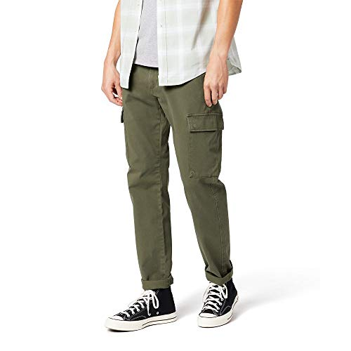 Dockers Men's Ultimate Cargo Pant, Olive-Green, 34Wx32L