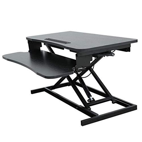 Escritorio de pie ajustable en altura con bandeja de teclado, 40 cm x 80 cm de ancho Plataforma Riser Converter fuerte Stand Up Strong De.
