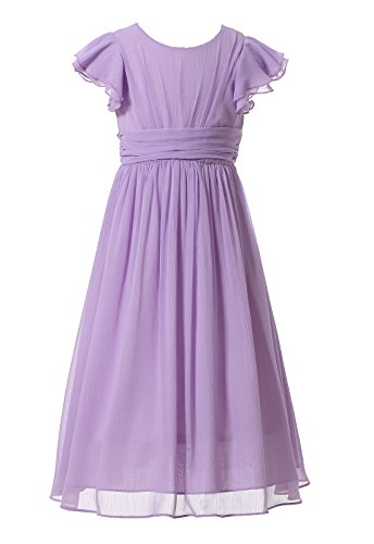 Happy Rose Flower Girl's Dress Prom Party Bridesmaid Dress Long Lavender 8