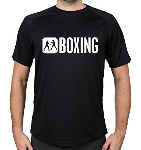 buXsbaum® Sport Performance T-Shirt Boxing | L, Schwarz
