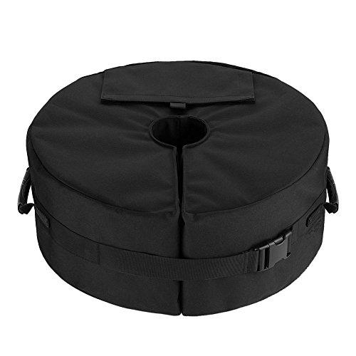 CatcherMy Sandsäcke Sandsack Sand Tasche 900D Oxford Tuch Strapazierfähig mit Klettverschluss für Sonnenschirme/Pavillons/Markisen/Zelte/Partyzelt, 46×46×15 cm, Kann 46 kg Laden