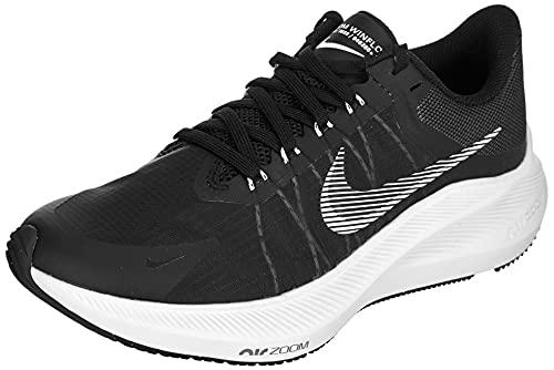 Nike Winflo 8, Running Mujer, Negro, Blanco, Gris Ahumado, Gris Lt Smoke, 37.5 EU