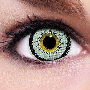 Circle Lenses graue Angel Grey ohne und mit Stärke + Behälter I 15mm I weich I 3 Monate anwendbar I Ohne und Mit Stärke