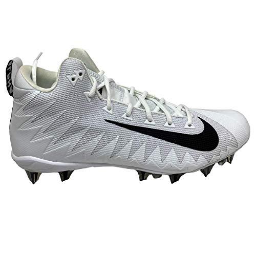 Nike Alpha Menace Pro Mid TD PRF Men's Football Cleats (White/Black, Numeric_12_Point_5)