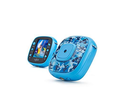 Lagom - Cámara Deportiva para Niños/Niñas Pantalla LCD a Color 1.4' Cámara Action Play Sumergible 2m, Medidas 7 x 6,5 x 2,6 cm. Color Azul