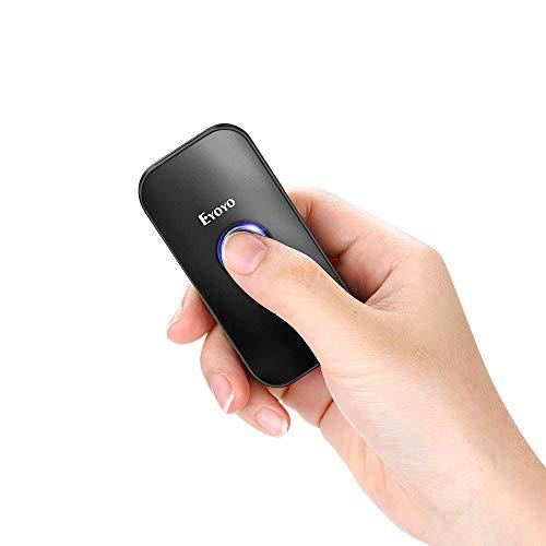 Eyoyo 1D Escáner de Código de Barras, Mini Lector de Código de Barras CCD 3-en-1 Conexión Bluetooth/ 2.4G Inalámbrico/Cable USB para Móvil, PC, Tabletas, Windows y Android