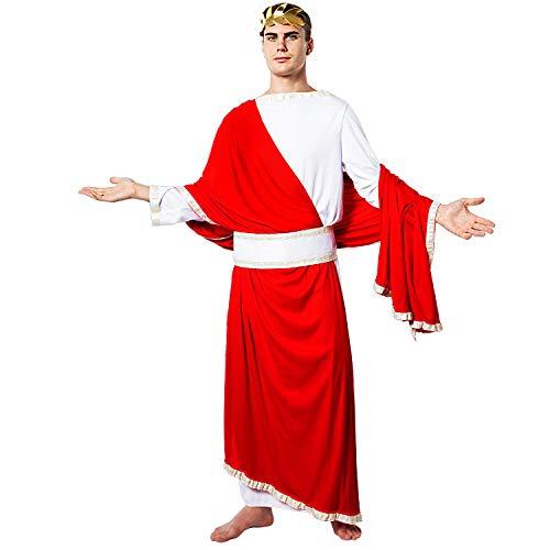 EraSpooky Disfraz de Toga Disfraz del Emperador Romano César Cosplay Traje de Fiesta de Halloween para Hombres Adultos