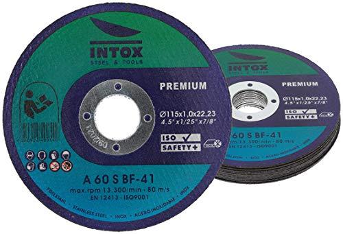 INTOX Trennscheiben 115mm x 1,0mm 10 Stück Inox Flexscheibe für Metall Stahl und Edelstahl