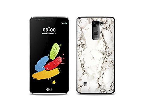 etuo Handyhülle für LG Stylus 2 - Hülle Fantastic Hülle - Weißer Marmor - Handyhülle Schutzhülle Etui Hülle Cover Tasche für Handy