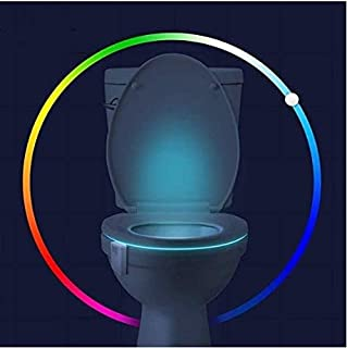 16-Color Toilet Night Light - Motion Activated Detection Bathroom Bowl Lights - Funny Birthday Gifts Idea for Dad, Mom, Me...