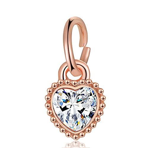 Pandora 925 plata esterlina joyería colgantes novo coração strass pingente contas adequado para charme pulseira senhoras jóias fazendo presentes