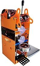 JIAWANSHUN Manual Milk Tea Cup Sealing Machine 300-500 Cups/Hour Electric Coffee Cup Sealer for 180mm Tall &95mm Diameter Cup (110V)